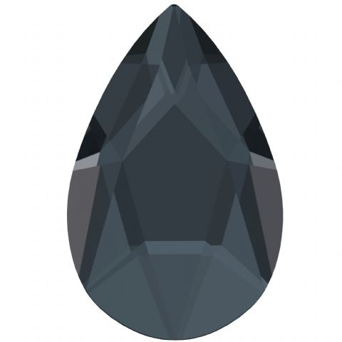 2303 Pear Crystals, Flatback, No-Hotfix, Graphite